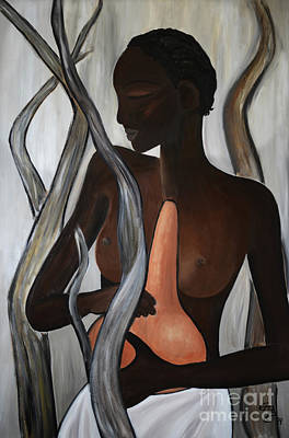 Tala Painting - Ethiopian Woman - Nuer by Eva-Maria Becker