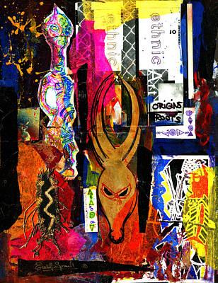 Ethnic Origins Art Print by Everett Spruill