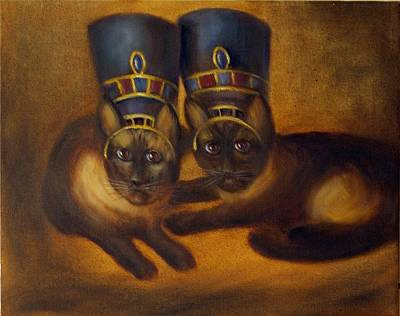Painting - Cats Of Egypt by Randy Burns
