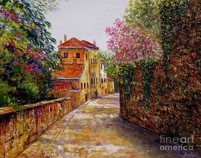 Painting - Etiler Istanbul Lane by Lou Ann Bagnall