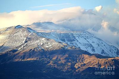 Photograph - Etna With Snow by Kathleen Pio