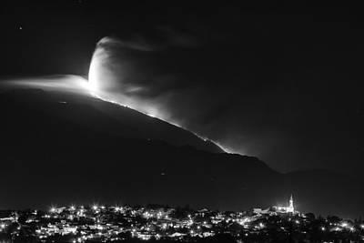 Photograph - Etna's Eruption by Alfio Finocchiaro