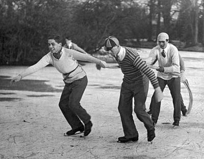 Skating Photograph - Eton College Holiday On Ice by Underwood Archives
