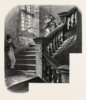 Eton, Staircase To The Upper School, Uk, Britain Art Print by English School