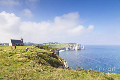 Etretat Art Print by Colin and Linda McKie