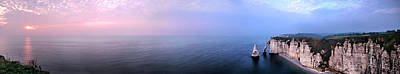 Photograph - Etretat Sunset Large Panorama by Weston Westmoreland