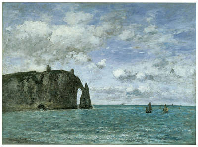 Etretat The Porte D'aval Art Print by Eugene Boudin
