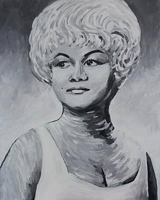 Etta James Painting - Etta James by Bridget Brummel