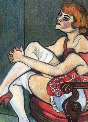 Wall Art - Drawing - Etude Apres Suzanne Valadon by Kerrie B Wrye