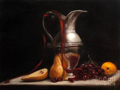 Silver Pitcher Painting - Etude En Argent by Darnell Nicovich