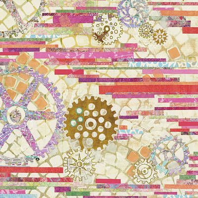 Gears Painting - Eu Timetable II On White by Kathy Ferguson