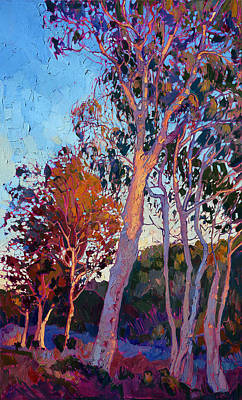 Bright Colors Painting - Eucalyptus In Color by Erin Hanson