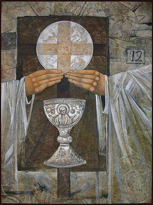 Eucharist Art Print by Mary jane Miller