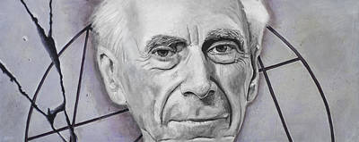 Geometry Painting - Euclid- Bertrand Russell by Simon Kregar