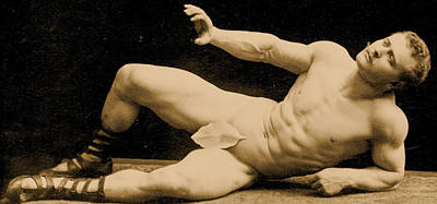 Eugen Sandow Art Print by Benjamin J Falk