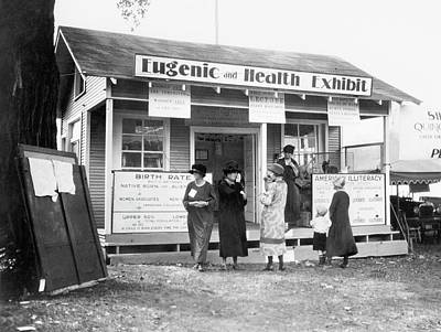 Discrimination Photograph - Eugenics Exhibit At Public Fair by American Philosophical Society