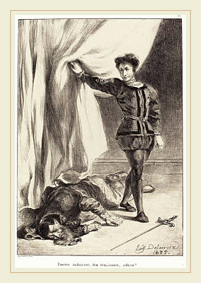 Eugène Delacroix French, 1798-1863, Hamlet And The Body Art Print by Litz Collection