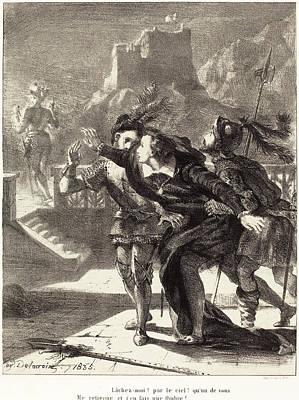 Eugène Delacroix French, 1798 - 1863, Hamlet Wishes Print by Quint Lox