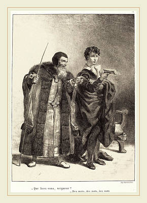 Eugène Delacroix French, 1798-1863, Polonius And Hamlet Art Print by Litz Collection