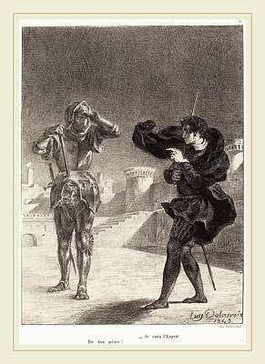 Eugène Delacroix French, 1798-1863, The Ghost Art Print by Litz Collection