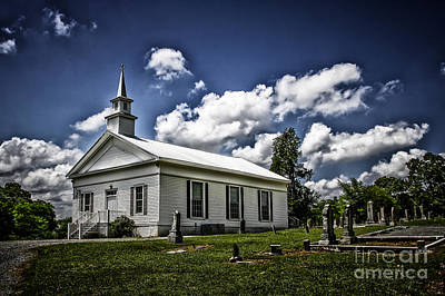 Photograph - Euharlee Church by Barbara Bowen