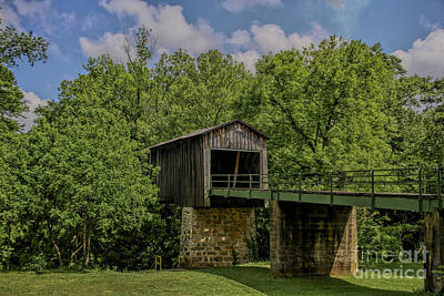 Photograph - Euharlee Covered Bridge by Barbara Bowen