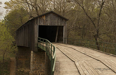 Photograph - Euharlee Creek Covered Bridge by Mike Fitzgerald