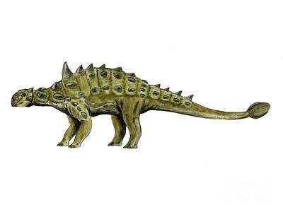 Euoplocephalus Dinosaur Print by Nobumichi Tamura