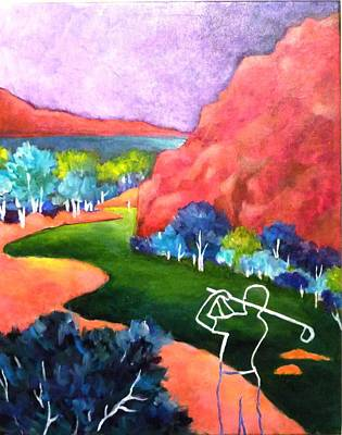 Euphoria - Golf Series Art Print by Betty M M   Wong