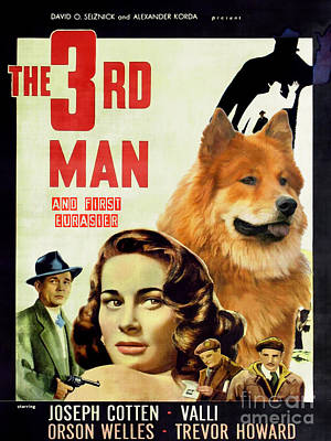 Painting - Eurasier Art Canvas Print - The Third Man Movie Poster by Sandra Sij