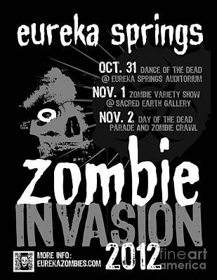 Photograph - Eureka Springs Zombie Invasion 2012 by Jeff Danos