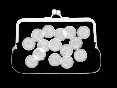 Emu Wall Art - Photograph - Euro Coins In Purse by Pascal Goetgheluck/science Photo Library