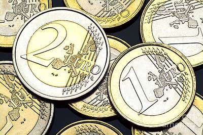 Euro Zone Photograph - Euro Coins by Martyn F. Chillmaid