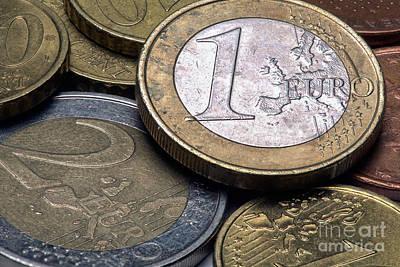 Euro Zone Photograph - Euro Coins by Rostislav Bychkov