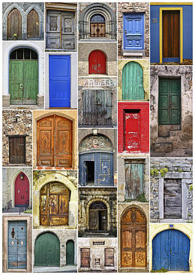 Euro Door Panel Art Print by Daniel Hagerman
