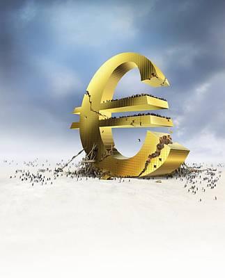 Euro Economic Crisis, Conceptual Artwork Art Print by Science Photo Library