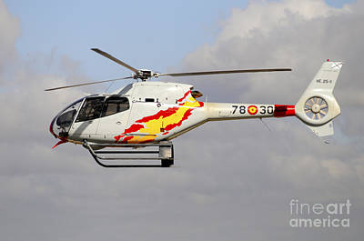 Eurocopter Ec120 Helicopter Art Print by Riccardo Niccoli