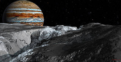 Enceladus Digital Art - Europa Icefields by David Robinson