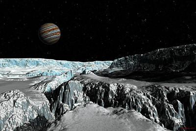 Digital Art - Europa's Icefield  Part 2 by David Robinson