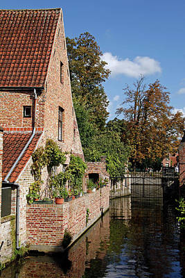 Belgium Photograph - Europe, Belgium, Bruges by Kymri Wilt