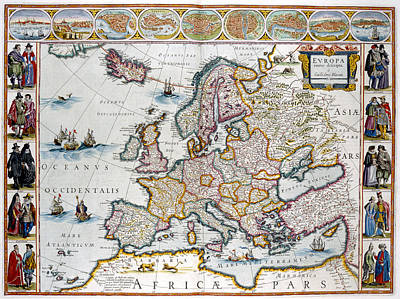 Cartography Photograph - Europe by British Library