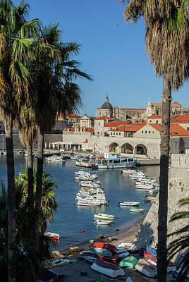 Dubrovnik Photograph - Europe, Croatia, Dubrovnik, Boats by Jim Engelbrecht