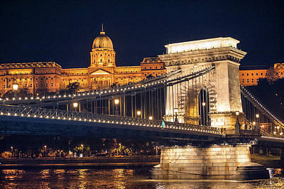 Castle Photograph - Europe, Hungary, Budapest, Chain by Jim Engelbrecht