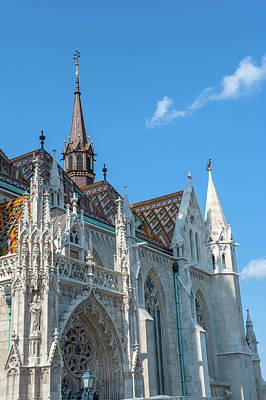 Buda Photograph - Europe, Hungary, Budapest, Matthais by Jim Engelbrecht