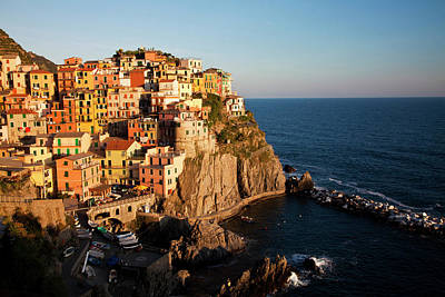 Ocean Pastels Photograph - Europe Italy Cinque Terre Manarola by Terry Eggers