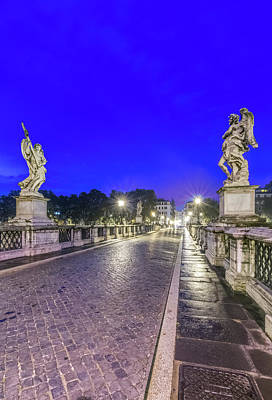 Angelo Photograph - Europe, Italy, Rome, Ponte Sant'angelo by Rob Tilley