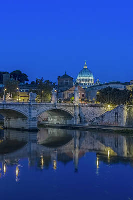 Vatican City Photograph - Europe, Italy, Rome, Tiber River by Rob Tilley