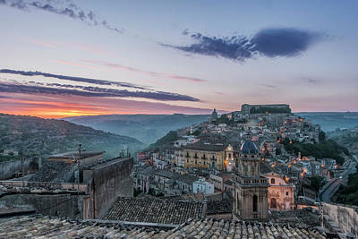 Hill Town Photograph - Europe, Italy, Sicily, Ragusa, Looking by Rob Tilley