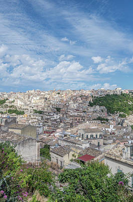 Hill Town Photograph - Europe, Italy, Sicily, Ragusa, View by Rob Tilley