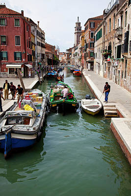 Europe Italy Venice Merchants Art Print